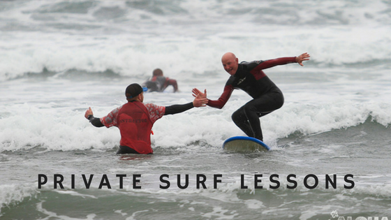 Private surf lesson in Clare